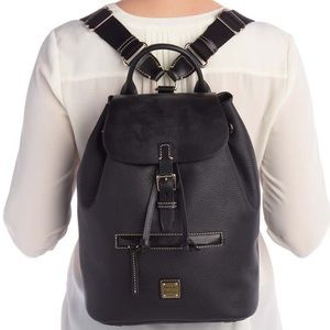 Authentic Dooney & Bourke pebbled leather Backpack